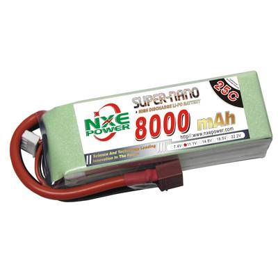 NXE8000mAh-25C-11.1V Softcase RC Helicopter Battery
