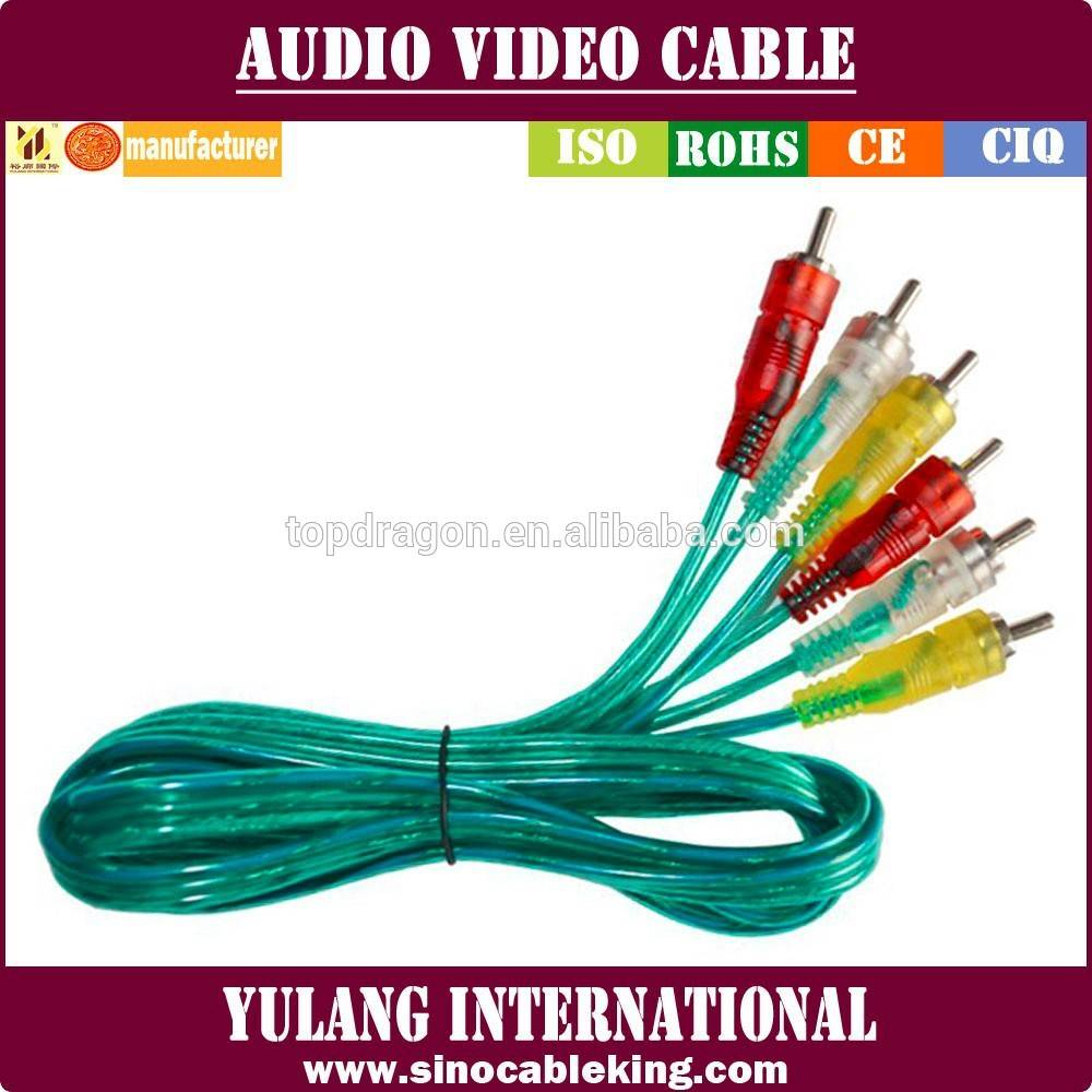 3RCA to 3RCA Audio & Video cable for Indonesia Market