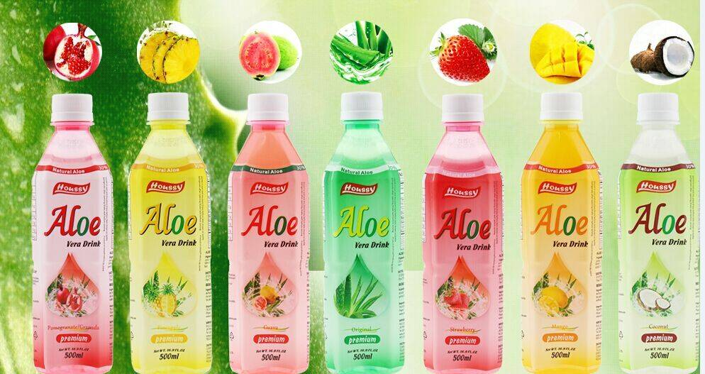 500ml aloe vera drink with different flavors