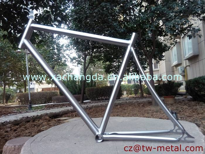 2016 fashionable Titanium track bike frame customized titanium bicycle part