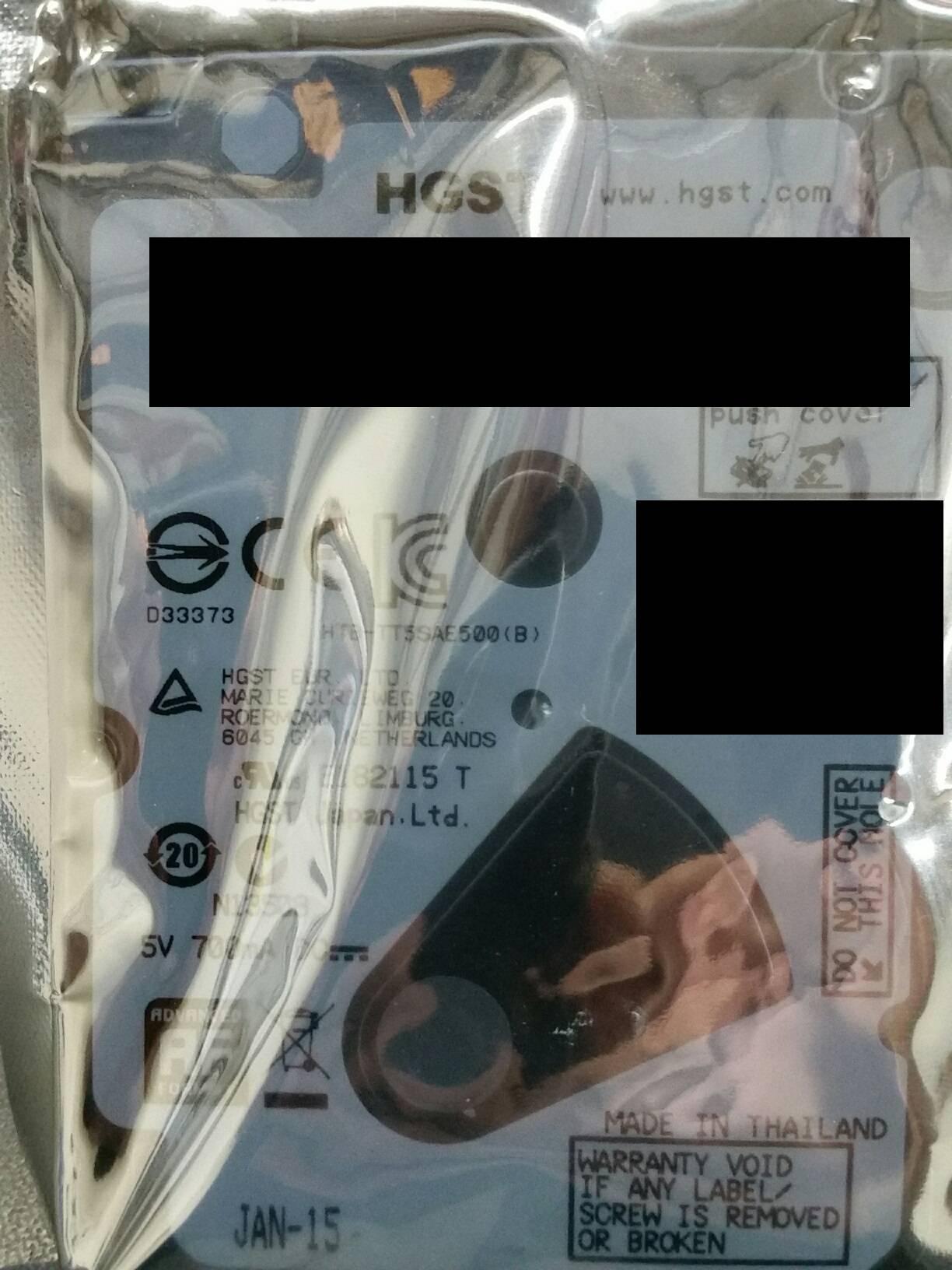 HTS545050A7E680 500GB HD NEW