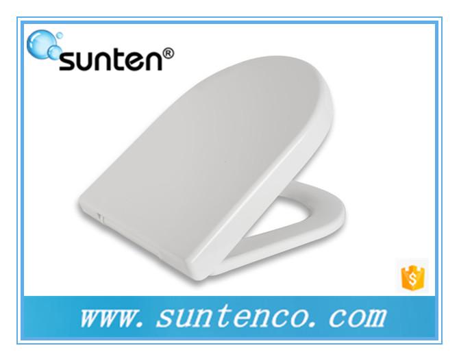 Pure White D Shape Urea Material Soft Close Toilet Seat Suppliers