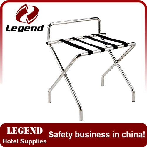Hotel Room Stainless Steel Luggage Rack for Five Star Hotels / Tubular Metal Luggage Rack
