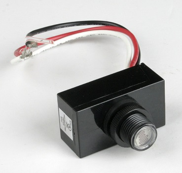 Raintight Photocontrol Button Control for Outdoor Lighting
