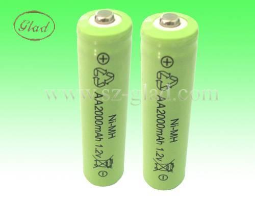 2000mAh AA/SC/C/D ni-mh rechargeable batteries 1.2V