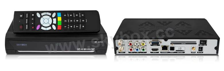 Original Skybox A4 1080P Full HD satellite receiver with GPRS VFD Display support 2 usb weather fore