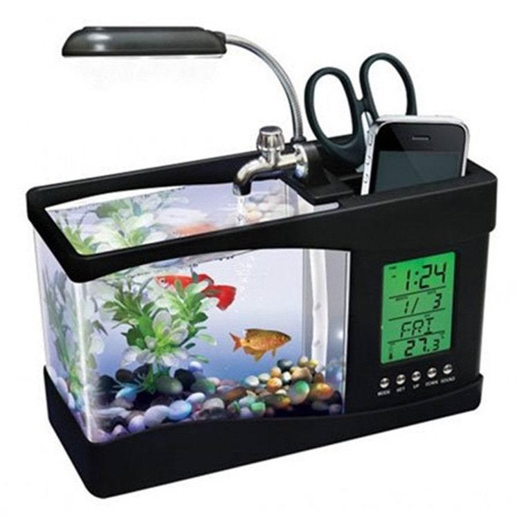 KangWei KW2010B desktop LED light calendar glass aquarium powerhead freshwater fish