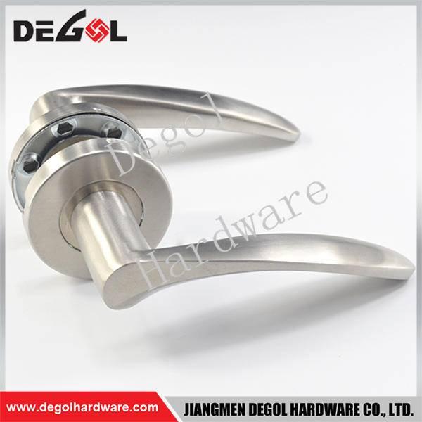 Custom stainless steel solid lever type the door handle