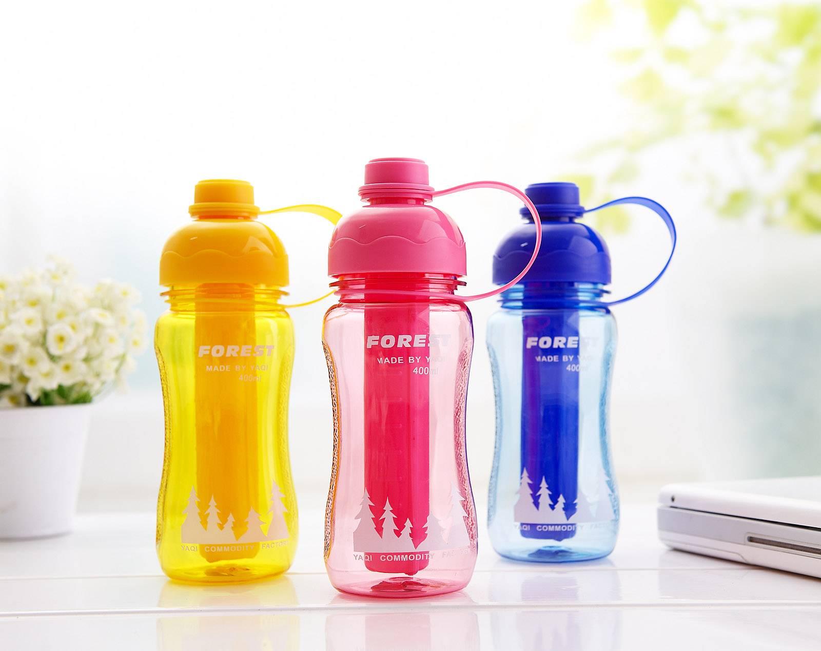 600ml ice tube bottle/plastic water bottle with freezing stick/
