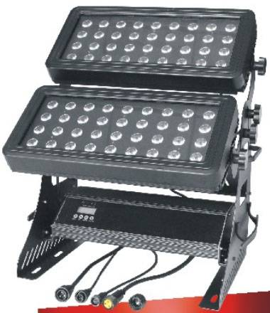 72pcs 12W 4in1 RGBW Outdoor LED Wall Washer 10%off Free Shipping with flightcase