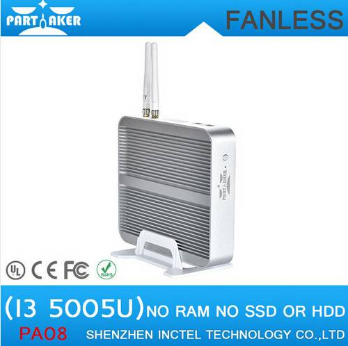 5th CPU Intel Core i3 5005U Broadwell Mini NUC PC Fanless HDMI PC Intel HM97 HD5500 4K HTPC Mini Com