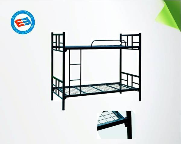 2015 hotsale New design factory price Knock down steel cheap single bed bunk bed metal bed for tende