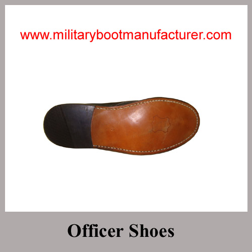 Wholesale China Full Grain Leather Togo Army Officer Shoes with Leather Outsole