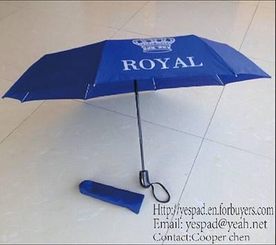 3 Fold Auto Open Auto Close Advertising Umbrella,Promotional Umbrella