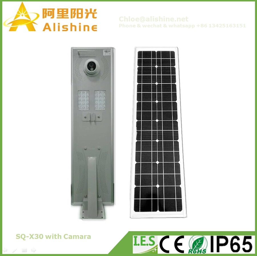 2016 New Design with camera 10W - 80W Solar Street Light