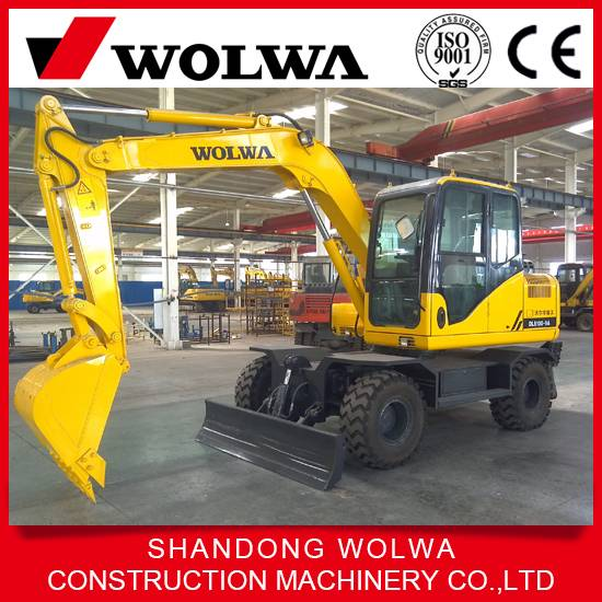 hot sale!1o ton high quality wheel hydraulic excavator with international famous engine brand