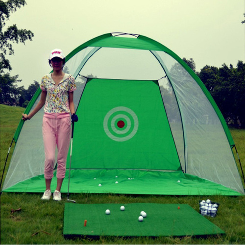 Golf Training Tent Practice Net with Carry Bag And Golf Hitting Mat
