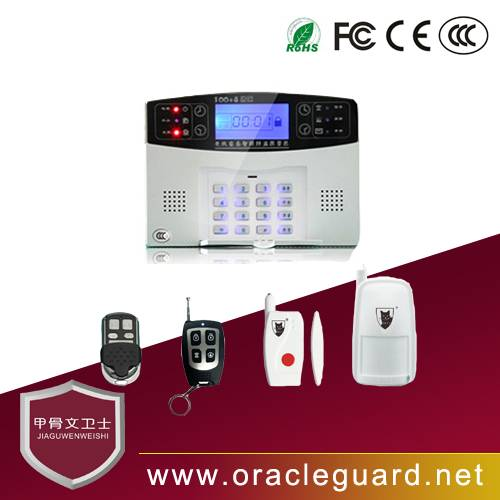 JGW-110G3A LCD voice alarm 99 wired defence zones GSM security alarm system