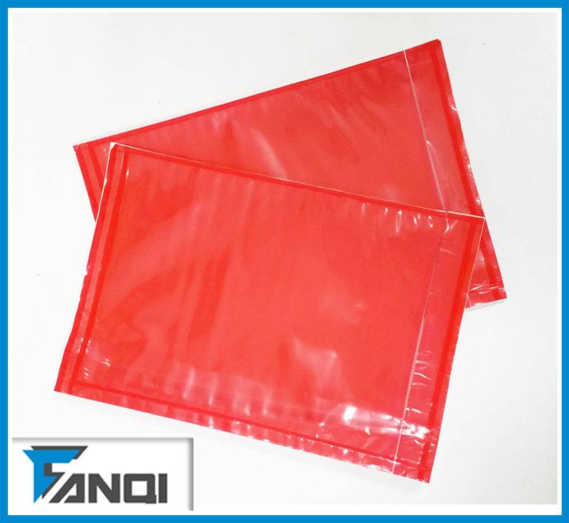 self-adhesive packing list envelope/plastic poly bag
