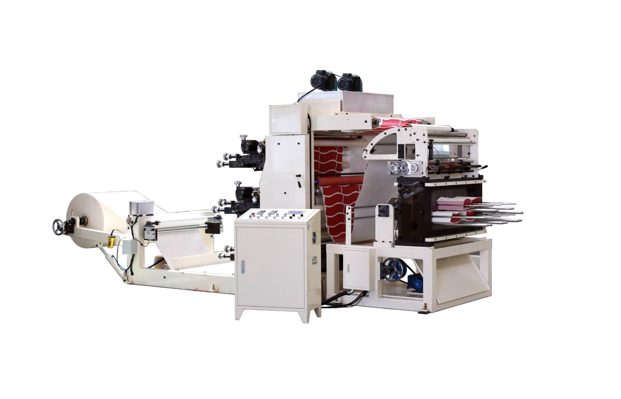 Flexo printing and punching machine