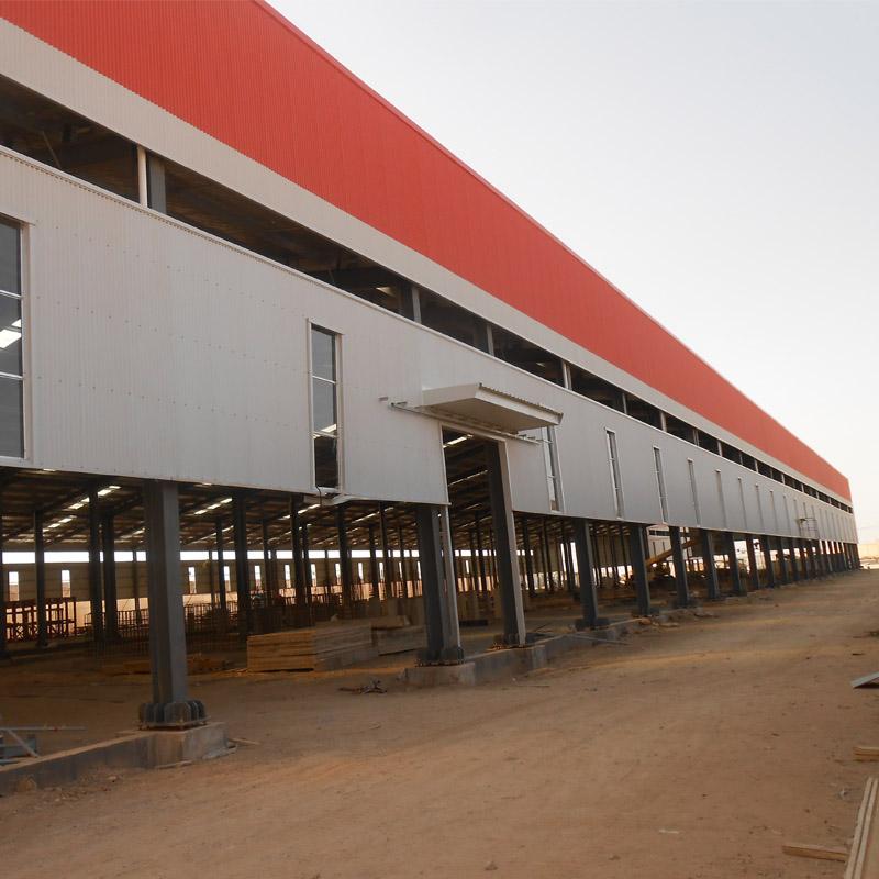Prehab light steel frame, Steel structural warehouse for Wheel of Railway