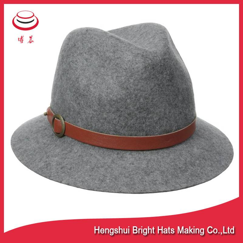 100% wool felt fedora hats