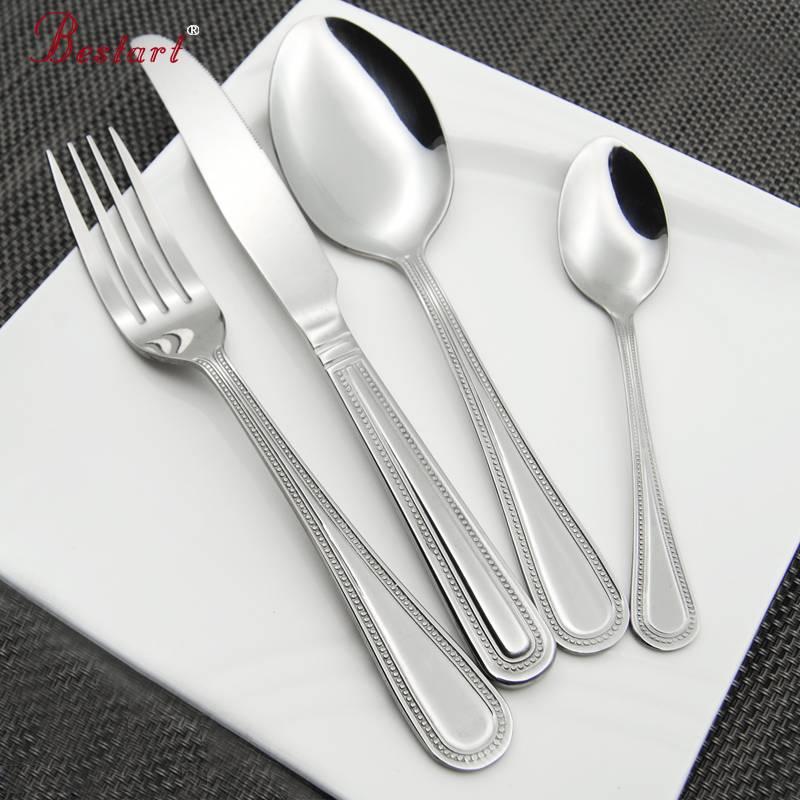 Stainless steel fork spoon knife tableware set
