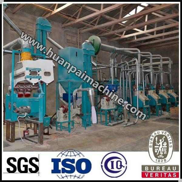 Good quality Huanpai 80 tpd maize flour machine for sale