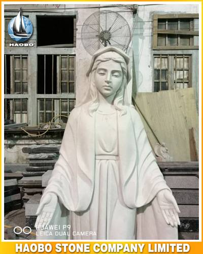 Stone Blessed Mary Statue Hand Carved