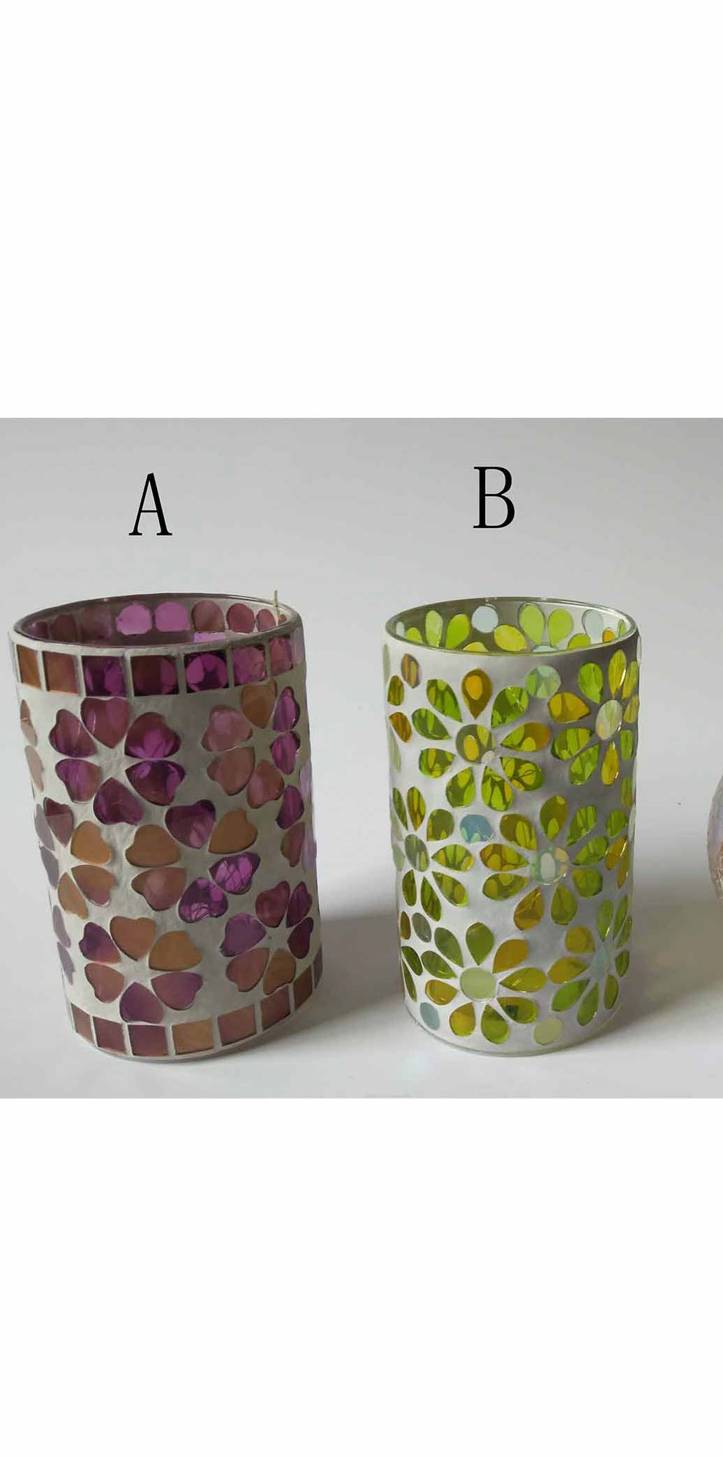 Glass Mosaic cylinder light
