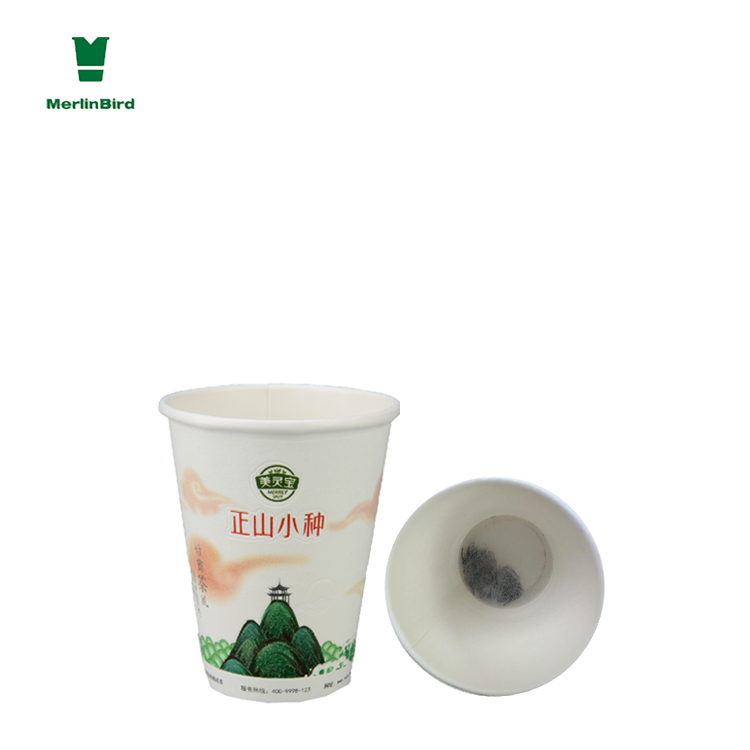 Customize private lable Make paper cups with filter paper inside for tea leaves