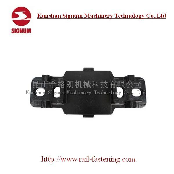 Rail Tie Plate for E Type Clip Railroad Fastening System