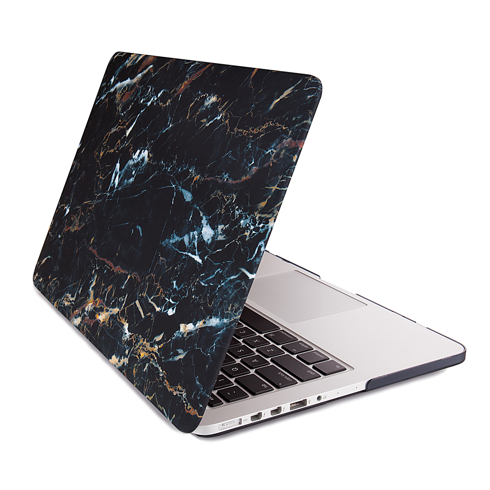 Full Body Protection White Marble Printing Hard Laptop Sleeve Case Cover for Apple Macbook Pro 15 Bl