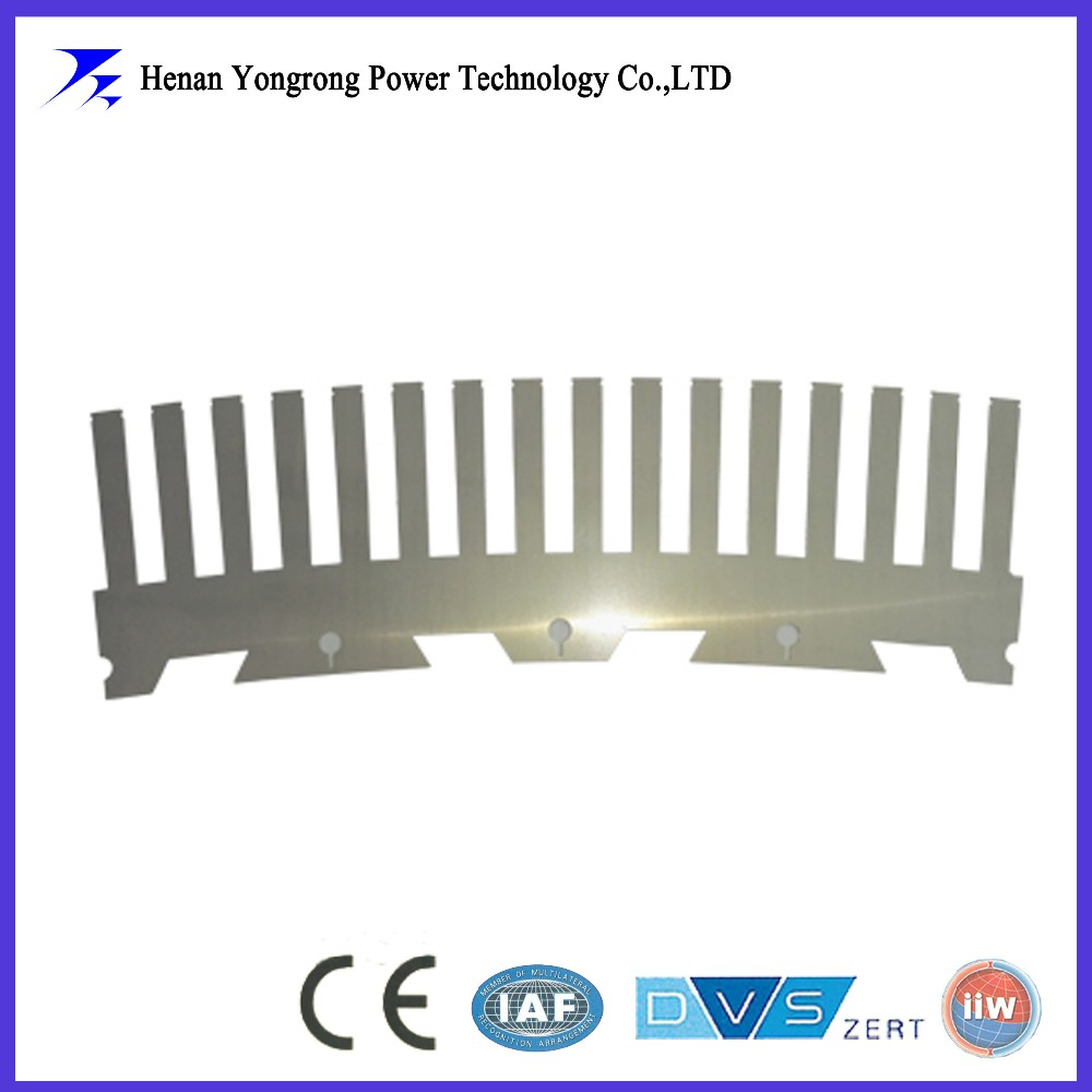 High precision segment rotor stamping for motor generator