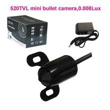 Best selling 90deg Pinhole Audio Mini Bullet Camera, Color CCTV Camera 0.008lux 520TVL 12V