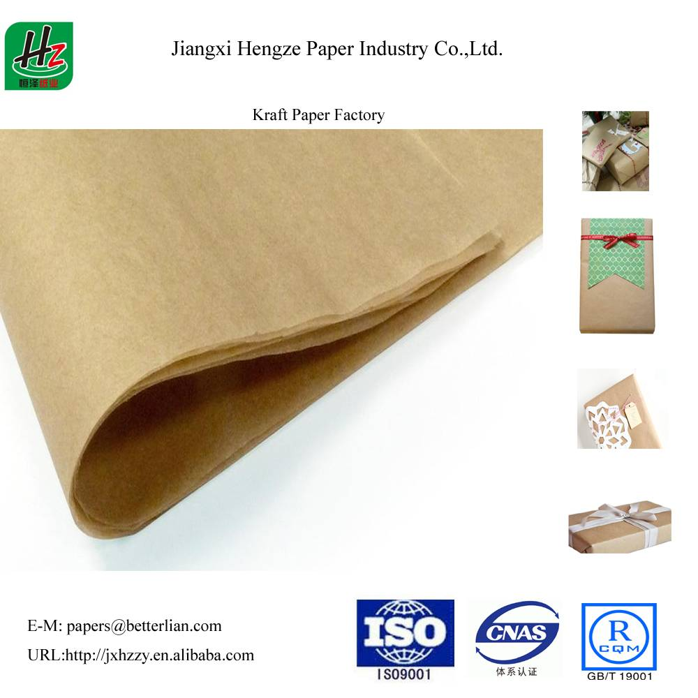 Unbleached uncoated 100gsm packaging kraft paper