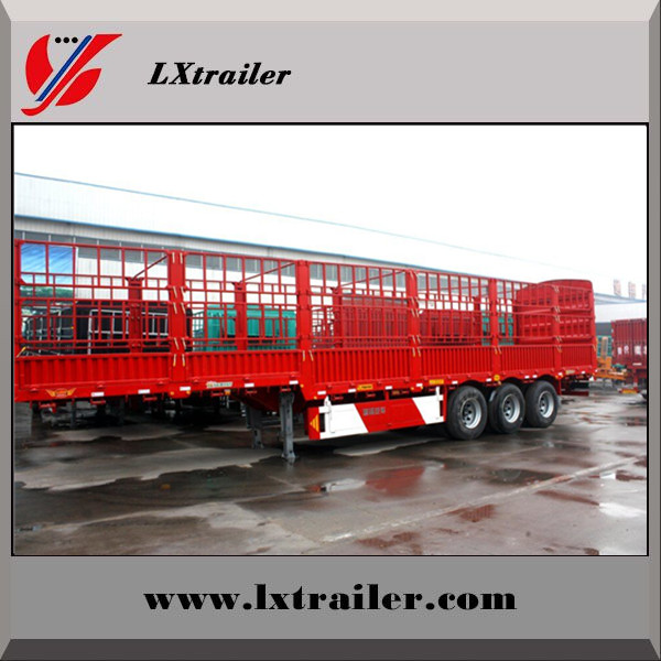 Chinese famous new High fence cargo semi trailer, bulk goods transport truck trailer