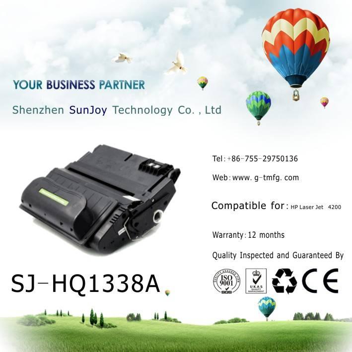 Sunjoy 38A toner cartridge Q1338A compatible for HP Laserjet 4200