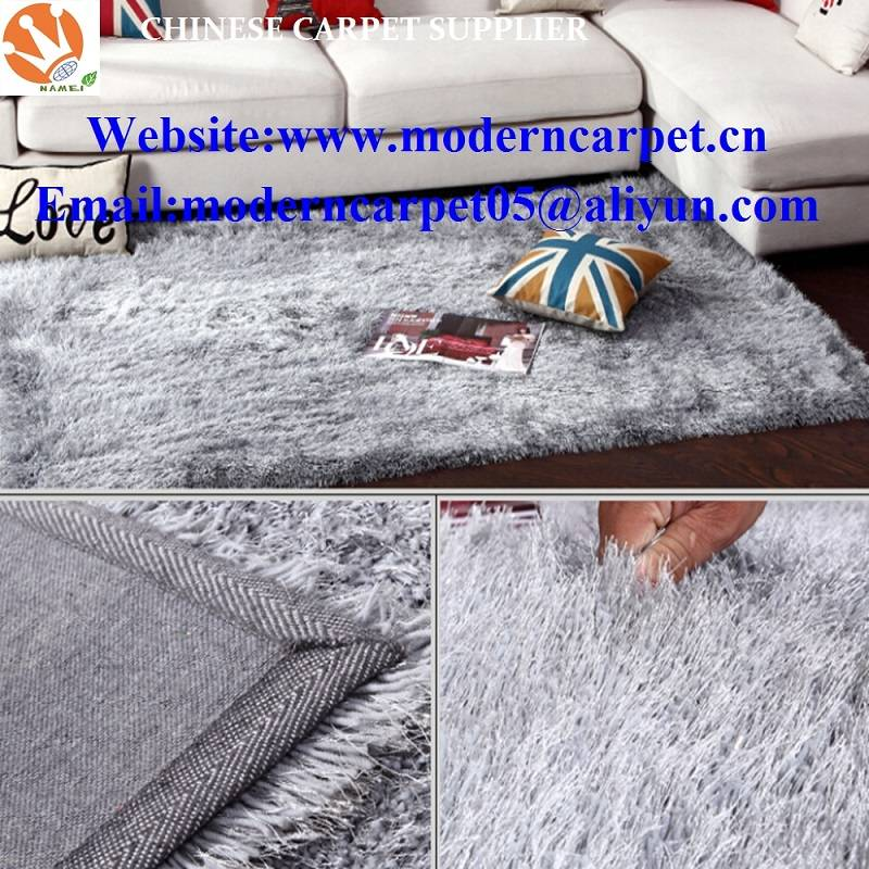 china long pile polyester shaggy carpets and rugs