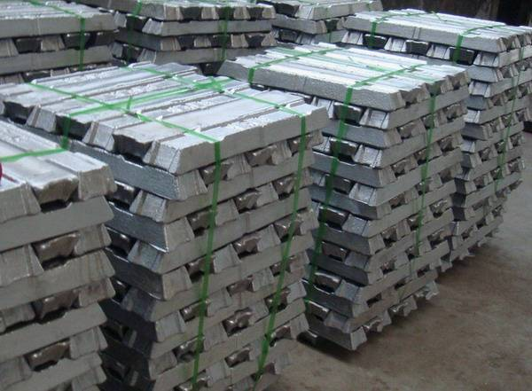 zinc  ingot 99,97%