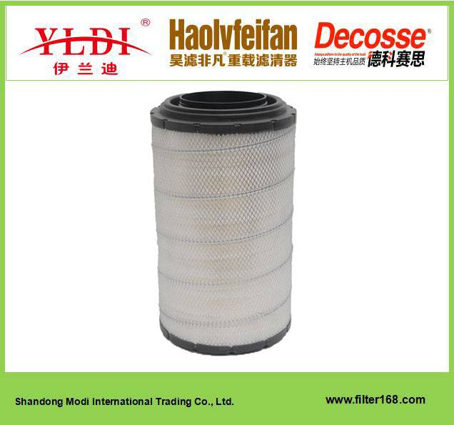 Auto part air filter KLP2845 for DAWEI, agitating lorry