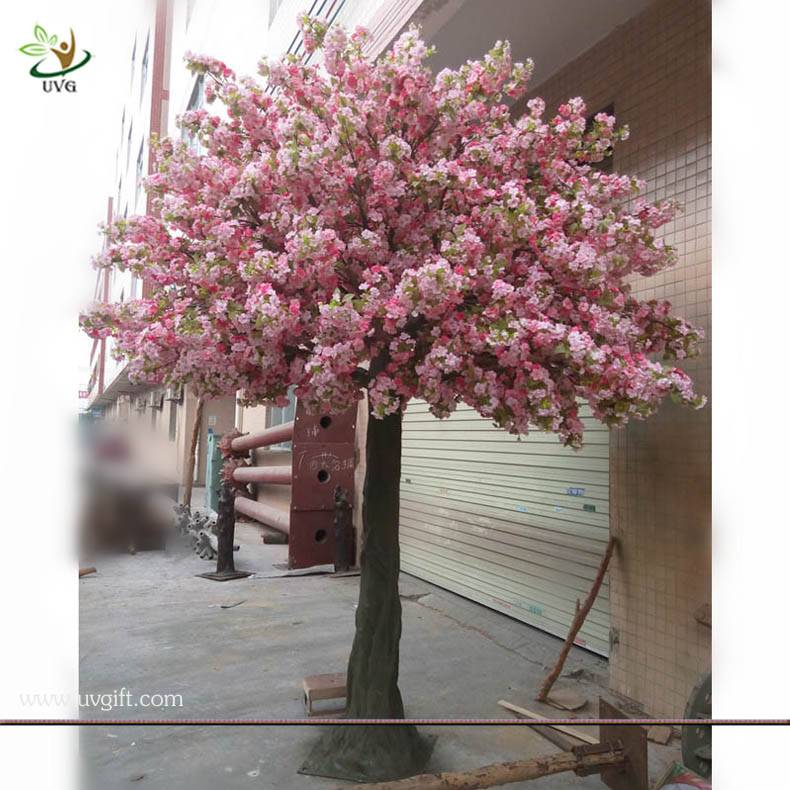 UVG CHR032 event party supplier make artificial trees in silk cherry blossoms for wedding decor