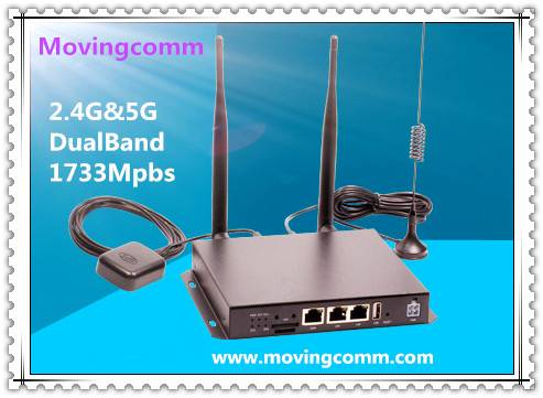 1167Mbps High Power Wireless Vehicle Router with 3G