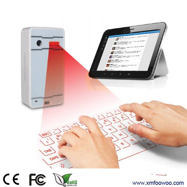 ultra-portable mini wireless bluetooth laser keyboard for smartphones