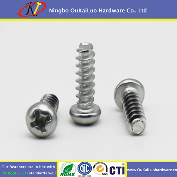 Clear Zinc phillips half round head seif trapping screws