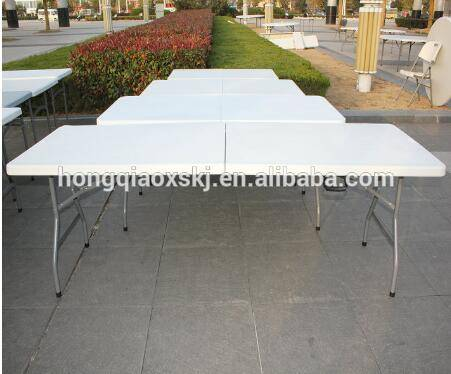 1.8m plastic folding in half rectangular table for event and rental,small Folding Camping table