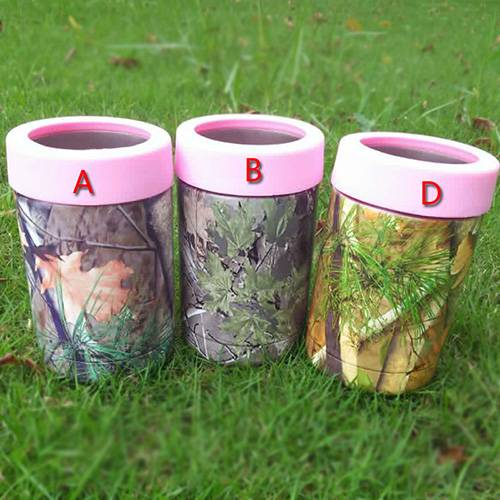 12 OZ Top Quality Camo Printing With Black Ring Cups For Beer Cans