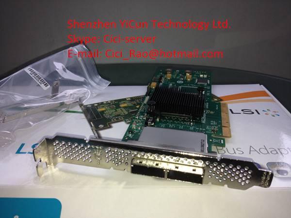 LSI SAS 9200-8E 8-Port 6Gb/s External PCI Express SAS/SATA HBA with Low-profile chip