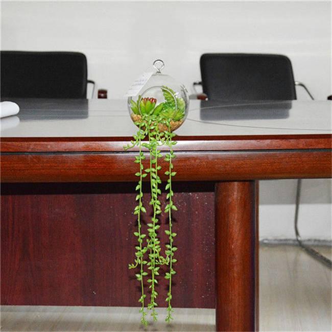 Colorful Succulent Terrarium Garden Hanging , Artificial Succulent Plants
