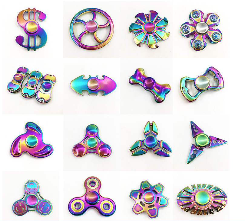 2017 Latest Design EDC Toys Hand Spinner High Speed Bearings Fidget Spinner Colorful Electroplating